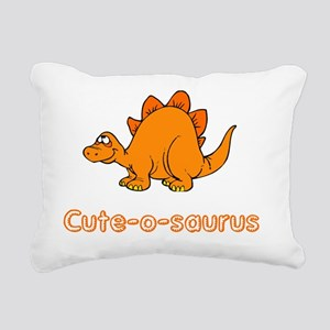 Cute-O-Saurus Rectangular Canvas Pillow