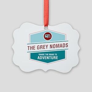 Grey Nomands  Picture Ornament