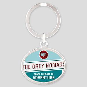 Grey Nomands  Oval Keychain