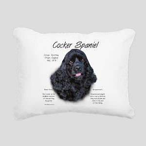Cocker Spaniel (black) Rectangular Canvas Pillow
