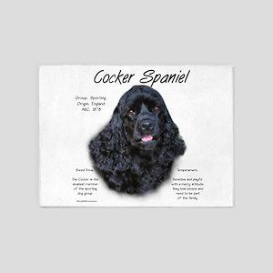 Cocker Spaniel (black) 5'x7'Area Rug