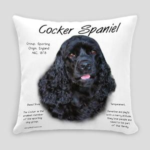 Cocker Spaniel (black) Everyday Pillow