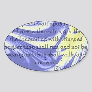 Isaiah 40:31 Sticker (Oval)