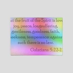Galatians 5:22-23 5'x7'Area Rug