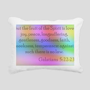 Galatians 5:22-23 Rectangular Canvas Pillow