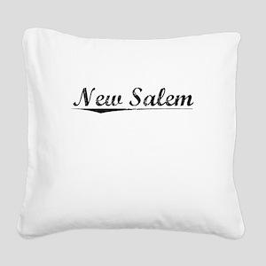 New Salem, Vintage Square Canvas Pillow