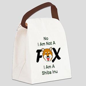 No I Am Not A Fox Canvas Lunch Bag