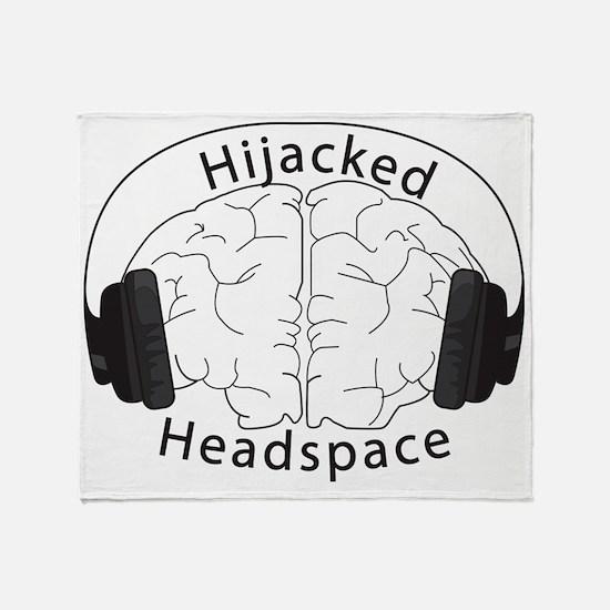 Hijacked Headspace Headphones Logo Throw Blanket
