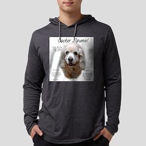Cocker Spaniel (buff) Mens Hooded Shirt