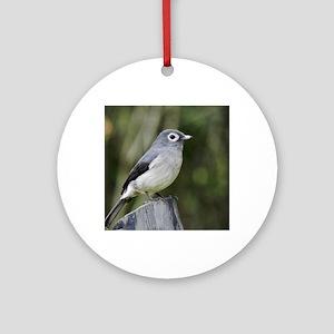 white eyed slaty flycatcher kenya c Round Ornament
