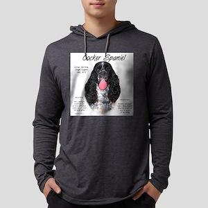 Parti Cocker Spaniel Mens Hooded Shirt