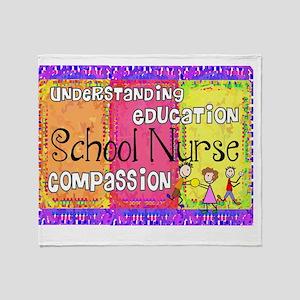 School Nurse giger Throw Blanket