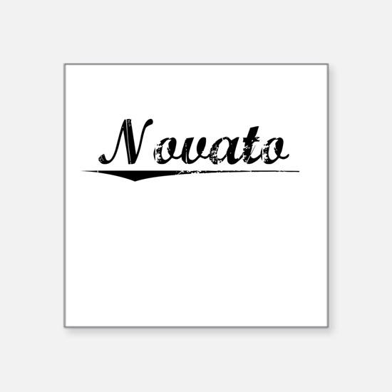 "Novato, Vintage Square Sticker 3"" x 3"""