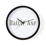 Battle Axe Wall Clock