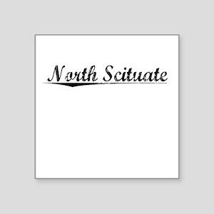 "North Scituate, Vintage Square Sticker 3"" x 3"""