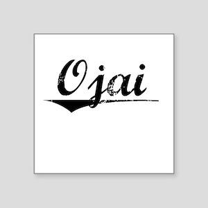 "Ojai, Vintage Square Sticker 3"" x 3"""