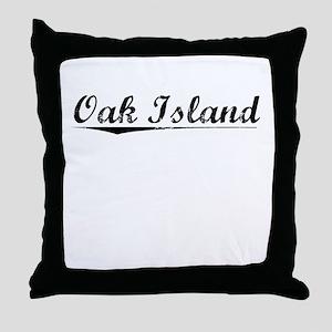 Oak Island, Vintage Throw Pillow