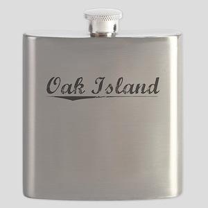 Oak Island, Vintage Flask
