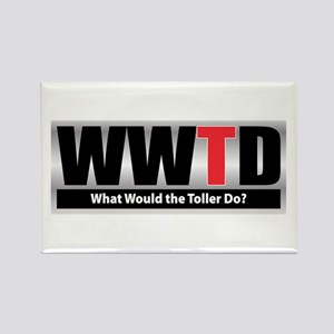 WW the Toller D Rectangle Magnet