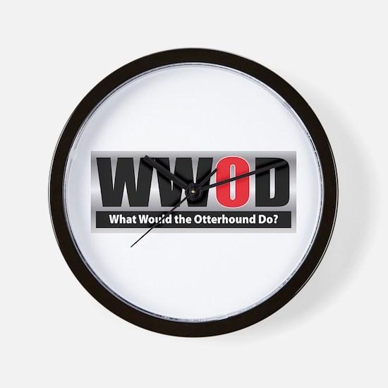 WW the Otterhound D Wall Clock