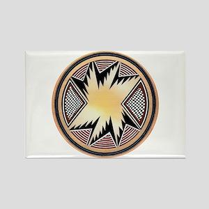 MIMBRES STARBURST BOWL DESIGN Rectangle Magnet
