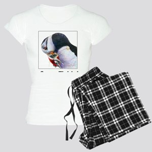 Gone Fishin - Puffin with f Women's Light Pajamas