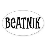 Beatnik Oval Sticker