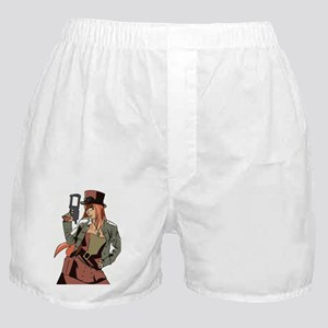 Steampunk Anime Girl Boxer Shorts