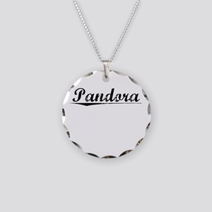 Pandora, Vintage Necklace Circle Charm
