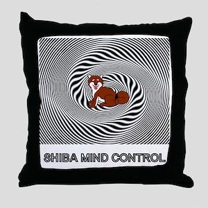 Shiba Mind Control Throw Pillow