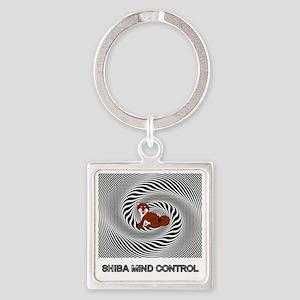 Shiba Mind Control Square Keychain