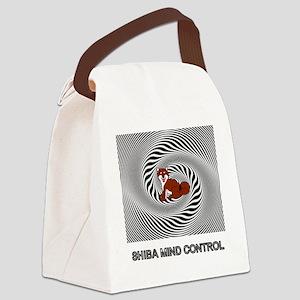 Shiba Mind Control Canvas Lunch Bag