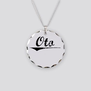 Oto, Vintage Necklace Circle Charm