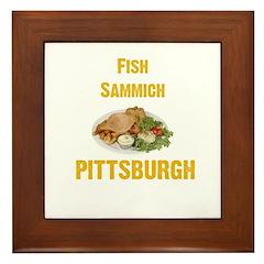 Fish sammich Framed Tile