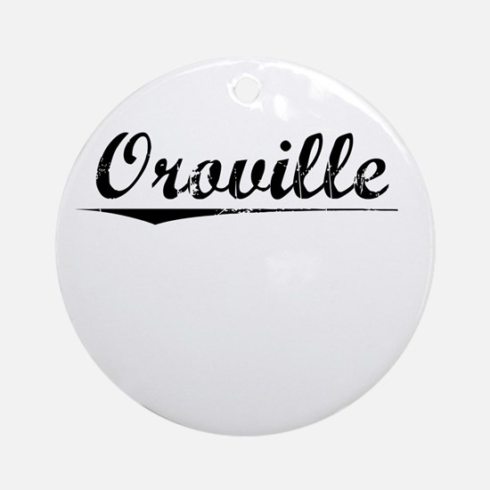 Oroville, Vintage Round Ornament