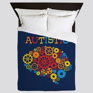 Autistic Brain Queen Duvet