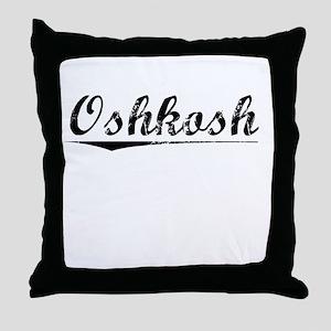 Oshkosh, Vintage Throw Pillow