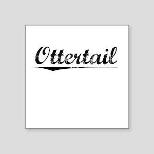 "Ottertail, Vintage Square Sticker 3"" x 3"""