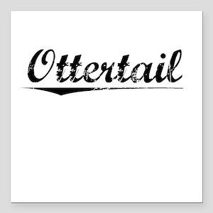 """Ottertail, Vintage Square Car Magnet 3"""" x 3"""""""