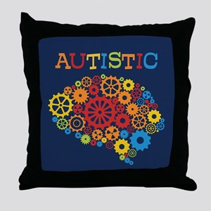 Autistic Brain Throw Pillow