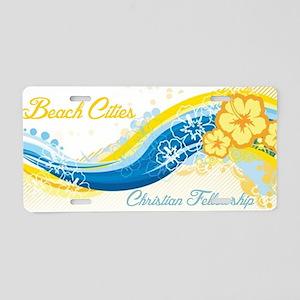 Beach Cities Waves Aluminum License Plate