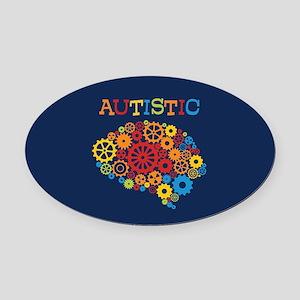 Autistic Brain Oval Car Magnet