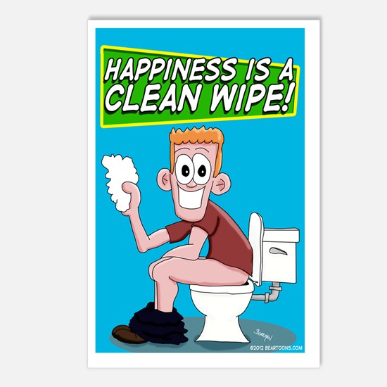 Happiness is a Clean Wipe Postcards (Package of 8)