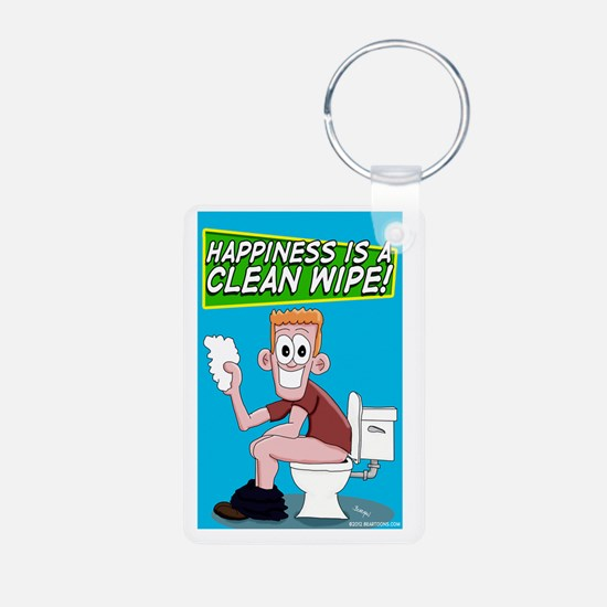 Happiness is a Clean Wipe Keychains
