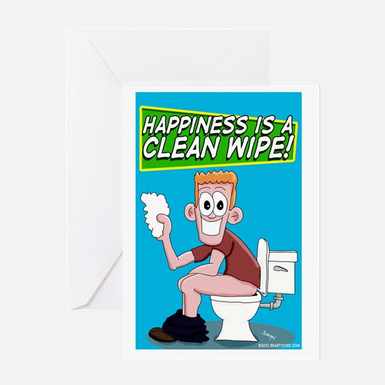 Happiness is a Clean Wipe Greeting Card