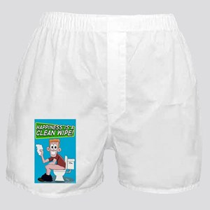 Happiness is a Clean Wipe Boxer Shorts