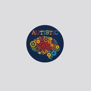 Autistic Brain Mini Button