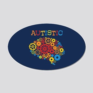 Autistic Brain 20x12 Oval Wall Decal