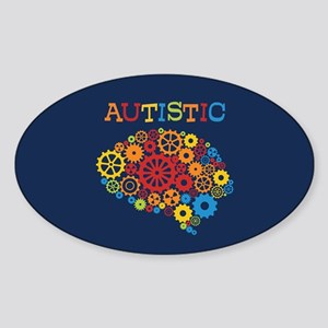Autistic Brain Sticker (Oval)