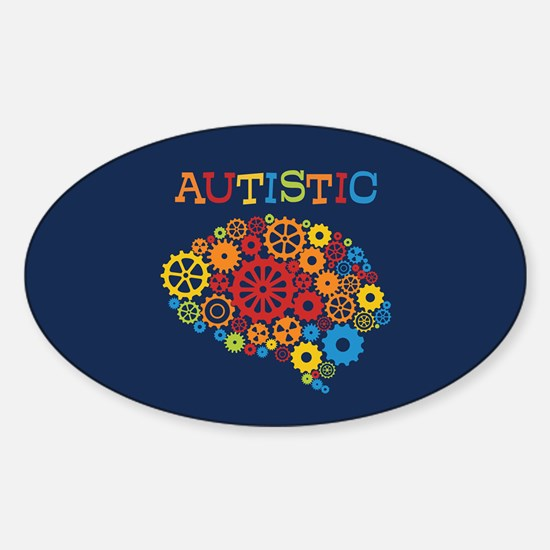 Autistic Brain Sticker (Oval)